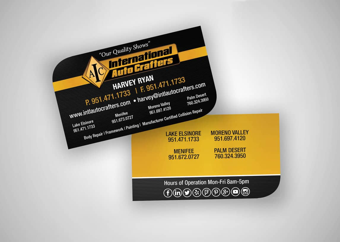 International Auto Crafters Business Card