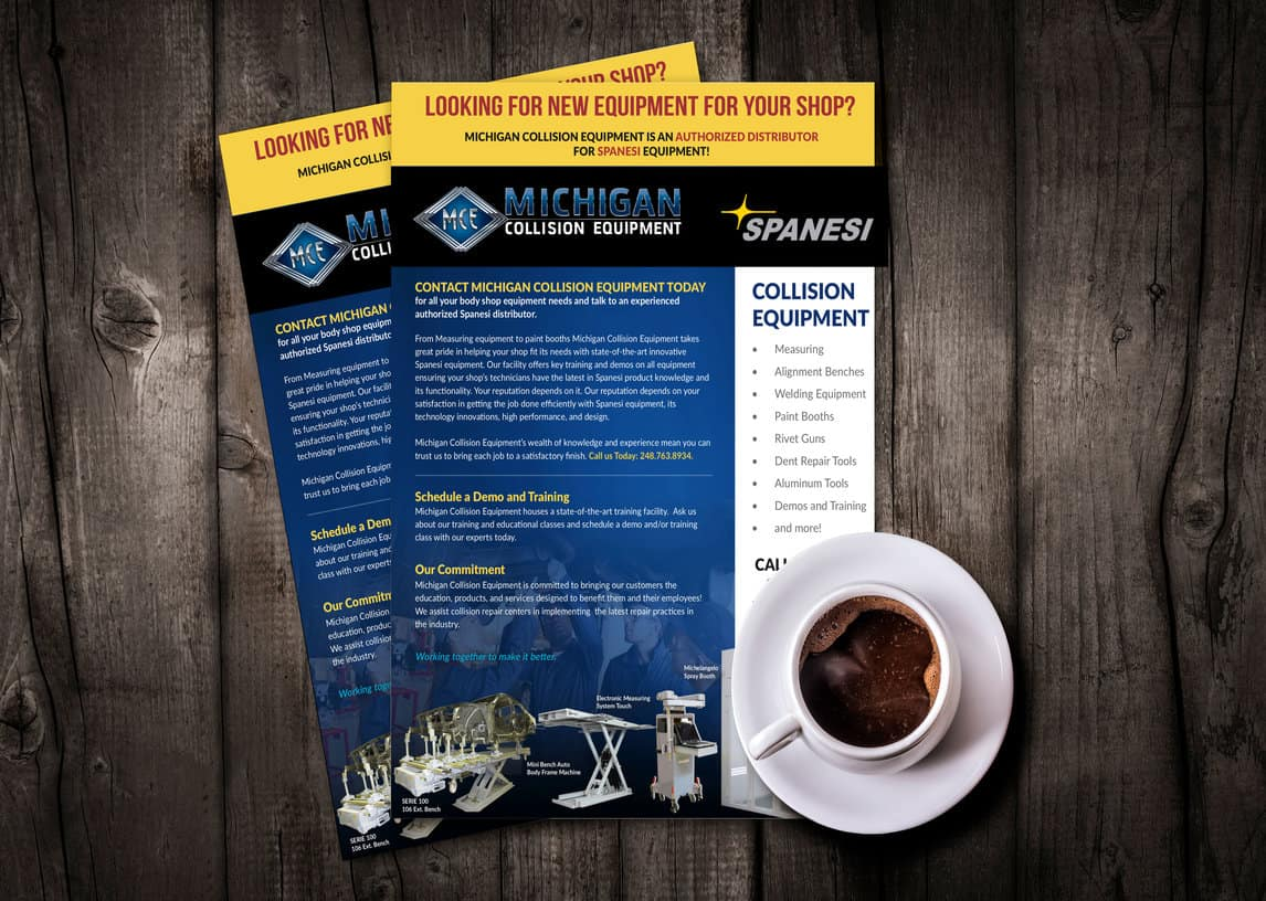 Michigan Collision Equipment Flier