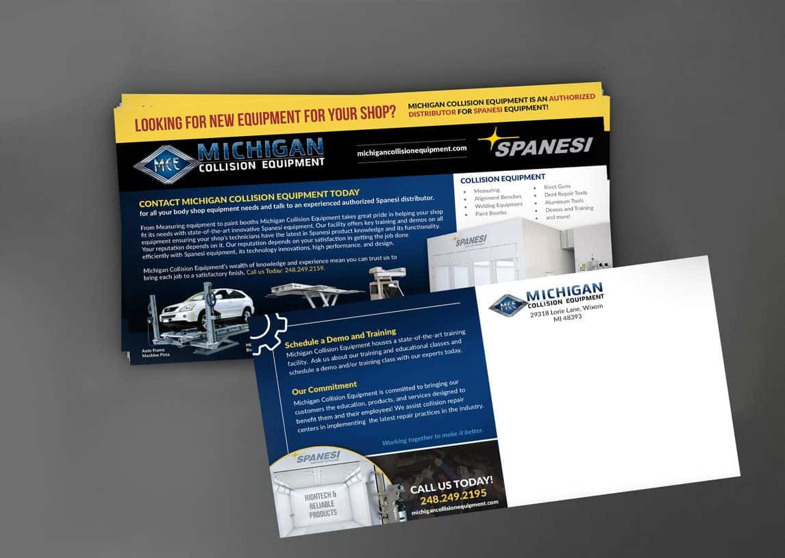 Michigan Collision Equipment Mailer