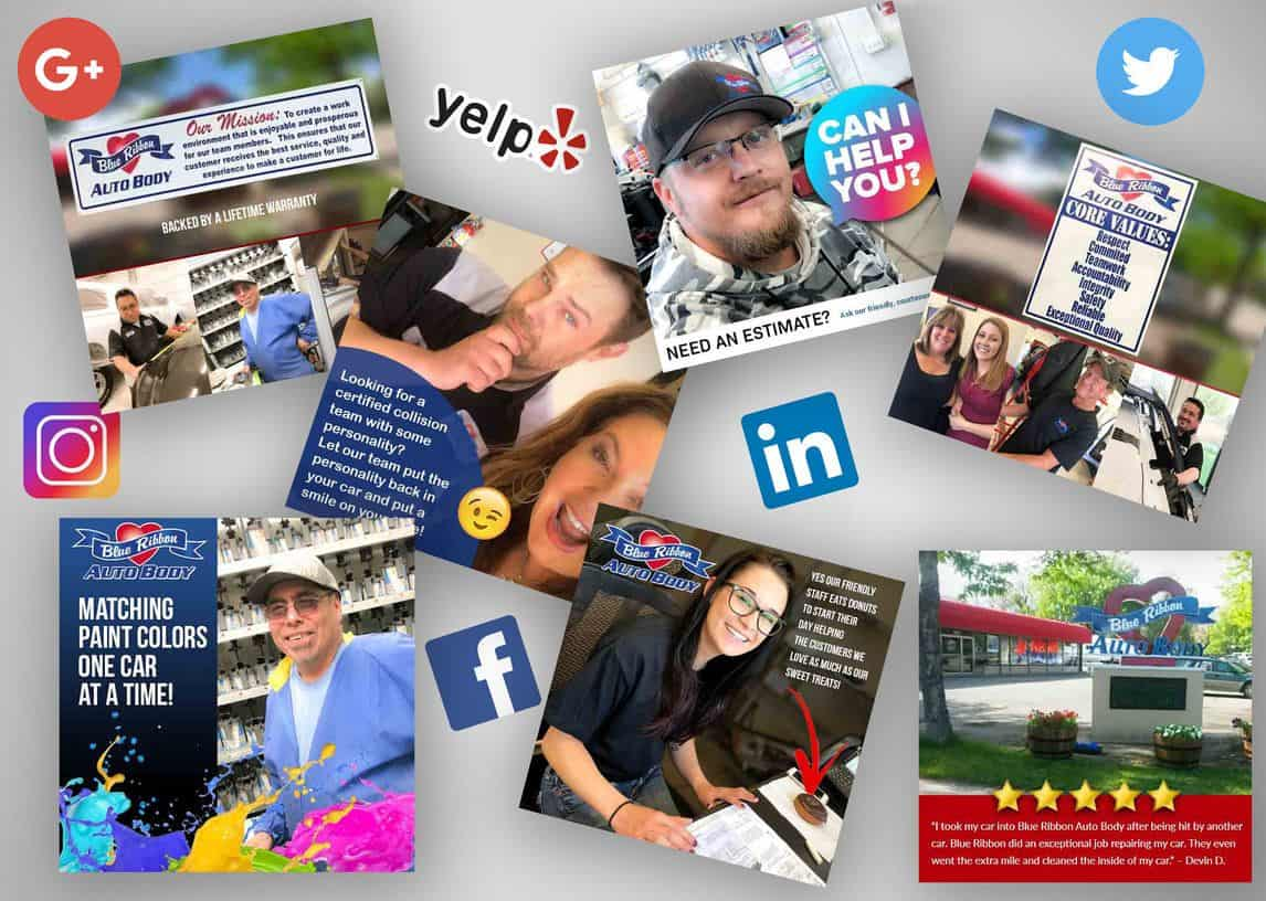 Blue Ribbon Auto Body Social Media