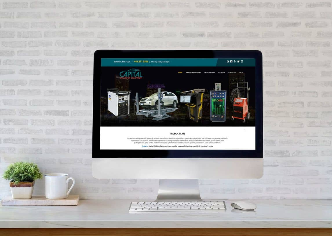 Capital Collision Equipment Website
