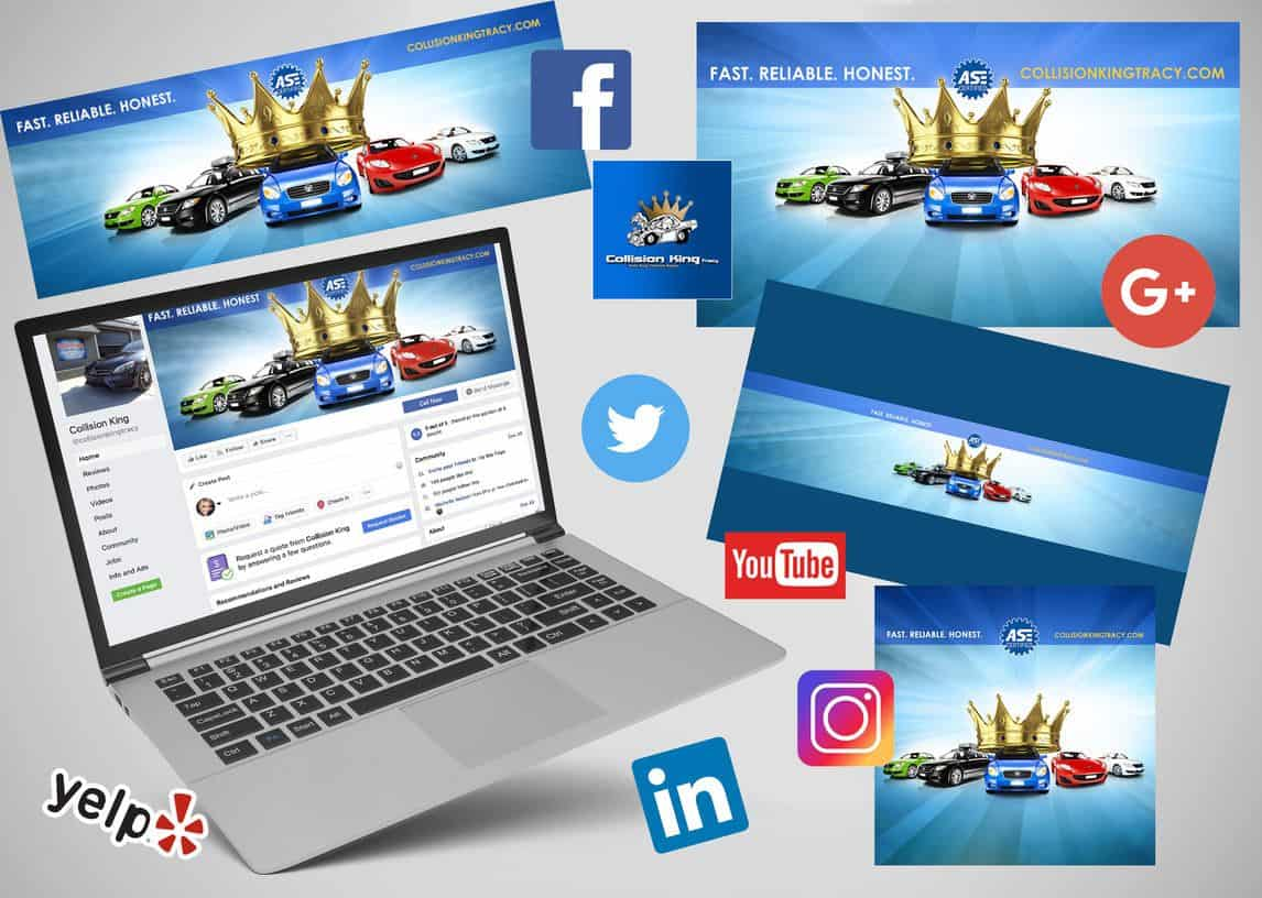 Collision King Social Media Branding