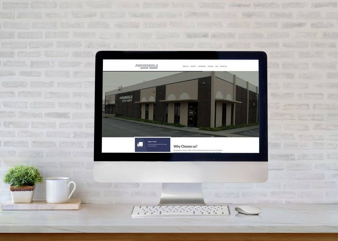 Peninsula Auto Body Website