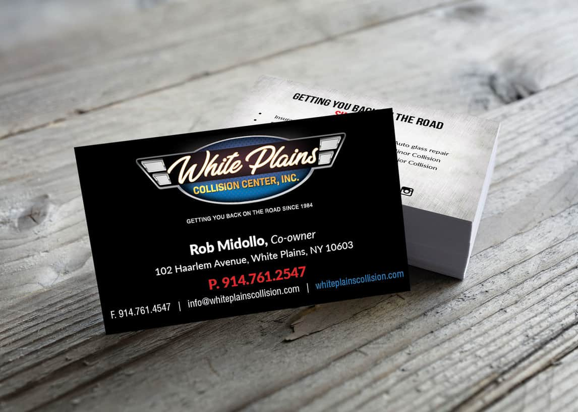 White Plains Collision Center Business Card